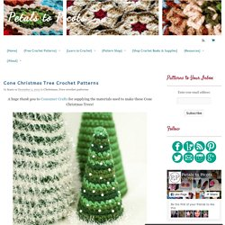 Cone Christmas Tree Crochet Patterns
