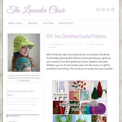 150+ Free Christmas Crochet Patterns