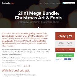 21in1 Mega Bundle: Christmas Art & Fonts