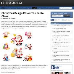 Christmas Design Resources: Santa Claus