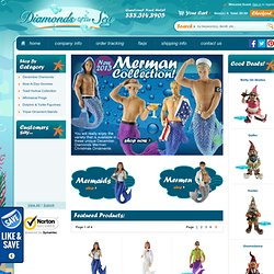 December Diamonds Aquatic Christmas Ornaments, Merman Ornaments