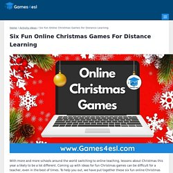Six Fun Online Christmas Games For Distance Learning