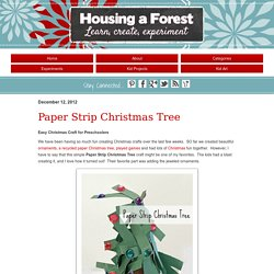 Paper Strip Christmas Tree - Housing A ForestHousing a Forest