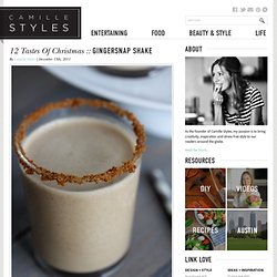 12 Tastes of Christmas :: Gingersnap Shake