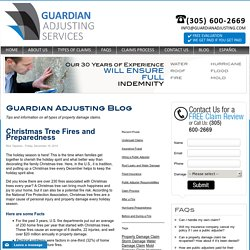 Christmas Tree Fires l Guardian Adjusting Florida