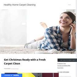 Get Christmas Ready with a Fresh Carpet Clean