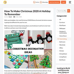 How to Make Christmas 2020 a Holiday to Remember