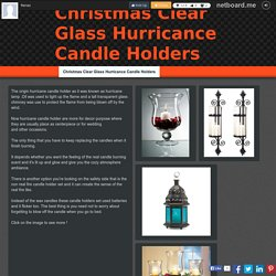 Christmas Clear Glass Hurricance Candle Holders