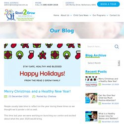 Merry Christmas and a Healthy New Year! - Read 2 Grow