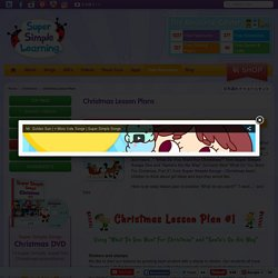 Christmas Lesson Plans - Super Simple Learning