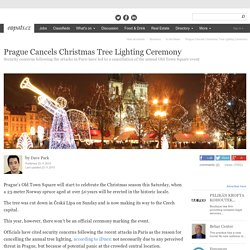 Prague Cancels Christmas Tree Lighting Ceremony, Prague - Czech Republic