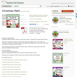 Christmas Math by Games 4 Learning