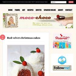 Red velvet christmas cakes « mocochocodotcom