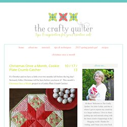 Christmas Once a Month, Cookie Plate Crumb Catcher