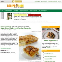 Make Ahead Christmas Morning Casserole