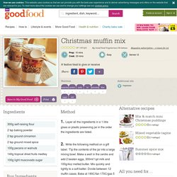 Christmas muffin mix recipe