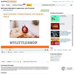 MATCHING CHRISTMAS PYJAMAS SALE - MYLITTLESHOP