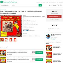 Free Christmas Mystery: The Case of the Missing Christmas Cookies - Mystery Unit