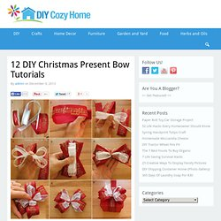 12 DIY Christmas Present Bow Tutorials