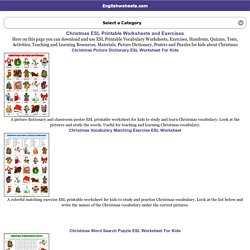 Christmas ESL Printable Worksheets and Exercises