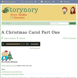 A Christmas Carol Part One - Storynory - Free Audio Stories for kids
