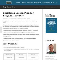 Christmas Lesson Plan for ESL/EFL Teachers