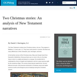 Two Christmas stories: An analysis of New Testament narratives