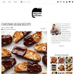 Christmas vegan biscotti
