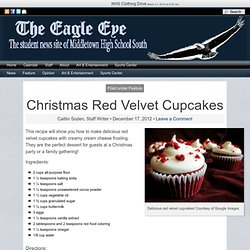 The Eagle Eye : Christmas Red Velvet Cupcakes