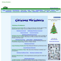 Christmas Worksheets for Kids and ESL Teachers
