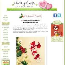Christmas Wreath Ideas: Candy Cane Wreath