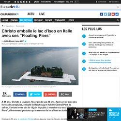 "Christo emballe le lac d'Iseo en Italie avec ses ""Floating Piers"""