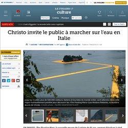 Christo invite le public à marcher sur l'eau en Italie