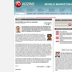 Christof Wittig neuer CEO von madvertise - Mobile Marketing