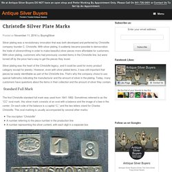 Christofle Silver Plate Marks