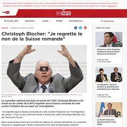 """Christoph Blocher: """"Je regrette le non de la Suisse romande"""" - rts.ch - Suisse"""