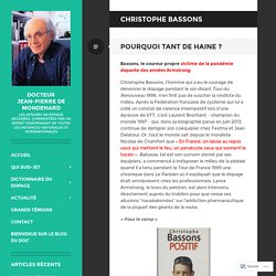 Christophe Bassons – Docteur Jean-Pierre de Mondenard