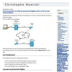 Communication à l'aide du protocole ZigBee entre un PC et une carte Arduino