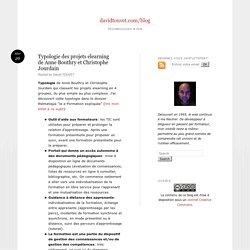 Typologie des projets elearning de Anne Bouthry et Christophe Jourdain