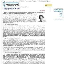Christophe Dejours : Entretien