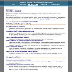 Christophe Jacquet - Exemples en Java