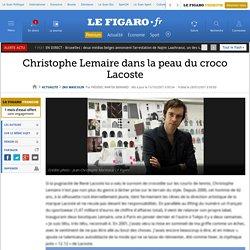 Christophe Lemaire dans la peau du croco Lacoste