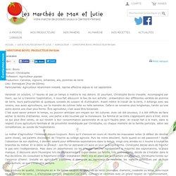 Christophe Bovio, producteur paysan - Épicerie en ligne de produits locaux à Clermont-Ferrand
