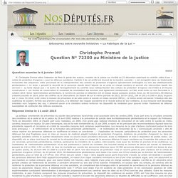 Christophe Premat : Question N° 72300 au Ministère de la justice