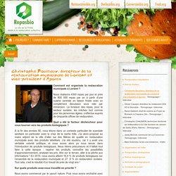 Christophe Bouillaux, directeur de la restauration municipale de Lorient et vice-président d'Agores