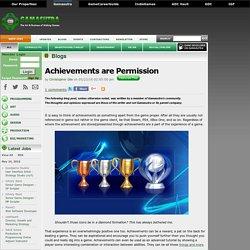 Christopher Gile's Blog - Achievements are Permission