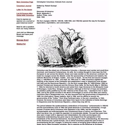 Christopher Columbus: Extracts from Journal