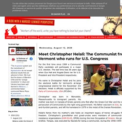 Meet Christopher Helali: The Communist from Vermont who runs for U.S. Congress