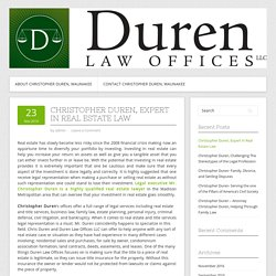 Christopher Duren, Expert in Real Estate Law