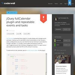 Christopher Ramírez : jQuey fullCalendar plugin and repeatable events and tasks